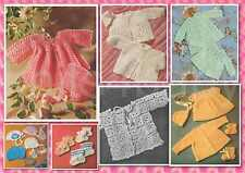 80+ Vintage BABY CROCHET PATTERNS ~ Beautiful Baby Sets + more