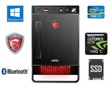 MSI Nightblade Gaming Desktop PC i7 16GB 512GB SSD GeForce GTX 980Ti X2-021EU