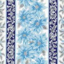 Robert Kaufman Holiday Flourish 12 APTM 1833978 Peacock Poinsettia Stripe Cotton