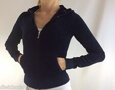 Juicy Couture Jacket Hoodie Navy Blue Size XS P