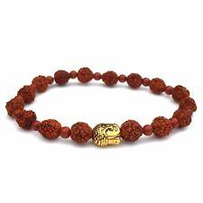 Rudraksha Mala Bracelet with Red Jasper, Unisex Spiritual Gift Bracelet
