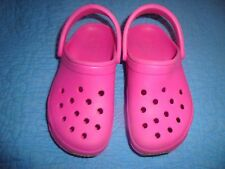 CROCS PINK CAYMAN STYLE SLIP RESISTANT SHOE SZ 10-11  WORN ONCE INDOORS