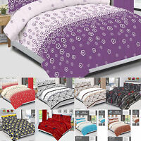 Novelty Spotted Duvet Cover Set Quilted Set+Pillow Cases & Fitted Sheet All Size