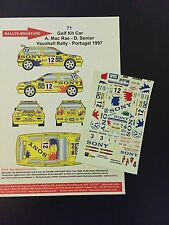 DECALS 1/43 VW VOLKSWAGEN GOLF KIT CAR MC RAE RALLYE PORTUGAL 1997 RALLY WRC