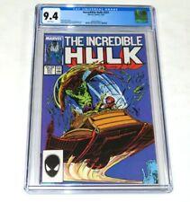 Incredible Hulk #331 CGC 9.4 NM Todd McFarlane art 2nd Peter David Marvel 1987