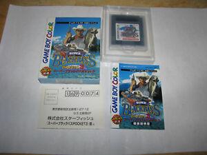 Super Black Bass Pocket 3 Game Boy Color Japan import Complete in Box US Seller