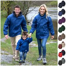 Mens Womens Ladies Waterproof Hooded Rain Coat Fleece Jacket Windproof Winter