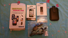 Original Carphone Warehouse Accessories screenguard car charger leather cover