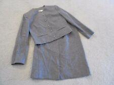 Women's Pendleton Mills 2 Pc Suit 100% Virgin Wool Sz 5/6 Medium Gray Lined