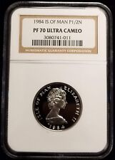 1984 Platinum Isle Of Man 1/2 oz Proof Noble Coin NGC PF70 Ultra Cameo