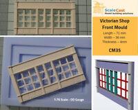 Victorian Shop Front mould - Model Railway Scenery OO Scale - CM35