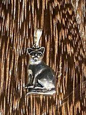 Pendant, Signed Sr Sterling Silver Estate Cat