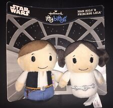 Brand New: Hallmark Itty Bittys Star Wars Hans Solo & Princess Leia. Rare!