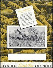 Wood Bros Single Row Corn Picker Ad Brochure