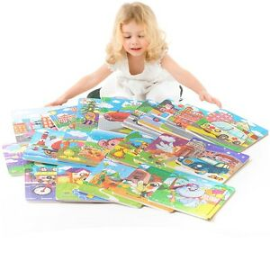 Wooden Puzzle Jigsaw Toddler Kids Early Learning Child's Educational Toys 20pcs