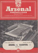 ARSENAL v BLACKPOOL ~ 9 APRIL 1955 ~ FOOTBALL PROGRAMME (2)