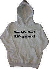 Worlds Best Lifeguard Black Kids Sweatshirt