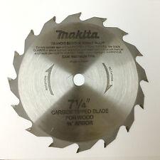 "(2) MAKITA Wood Cutting 7-1/4"" Carbide Tipped Circular Saw Blade"