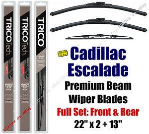Wiper Blades 3pk Front Rear Standard - 2015+ Cadillac Escalade 19220x2/30130