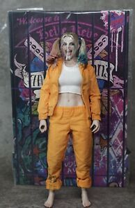 1/6 Hot Toys Suicide Squad Harley Quinn Prisoner Version Figure with MMS383 Head