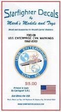 Starfighter Decals 700101 x 1/700 Uss Enterprise Cvn65 Markings 1962-2001
