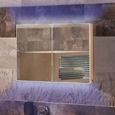 Homcom LED Badspiegel Badezimmerspiegel  Lichtspiegel Spiegelschrank Badschrank