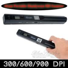 UK 900dpi Color Scanner Portable Handyscan A4 Book Photo Document Black iScan 01