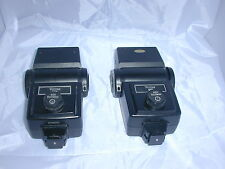 2 Vivitar 283 flashes good condition battery holders