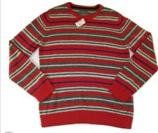 AEROPOSTALE Men's XL Sweater Wool Stripe Crewneck Pullover Red Blue White $49.50