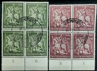 1943 > GERMANY > Goldsmith's Art > Block of 4 > Unused, OG, MNH.