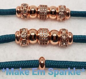 Teal and Rose Gold Dog Show Lead/Leash Bling Snap Show Dog Lead 4 Ft Dog Leash