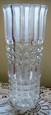 Vintage VASE CRYSTAL Cut Glass Arts and Craft Mission Style Decor Wedge File