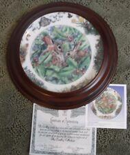 """January Jingle"" Backyard Buddies Plate, The Crestley Collection rabbit bunny"