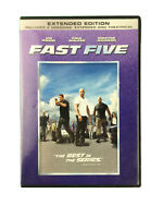 Fast Five DVD 2011 Extended Edition Paul Walker Vin Diesel Dwayne Johnson