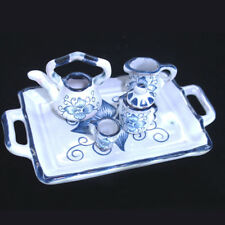 Dollhouse Tea and Miniature Tea Pot Tableware 1 inch scaled Teapot ceramic set