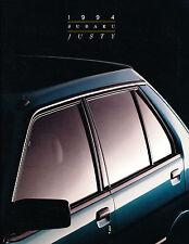1994 Subaru Justy Original Car Sales Brochure Folder