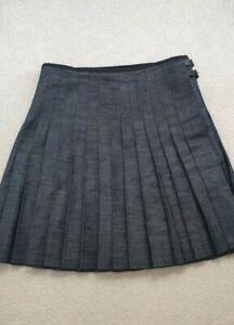 J.W Anderson for Topshop Pleated Denim Kilt Style Skirt. UK 16