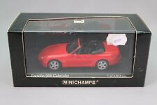 Ze510 minichamps 1/43 porsche 968 cabriolet 1994 red ref 400062330 edl nb