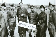 WW II German Photo --  Concentration Camp Officers