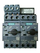 Siemens Dual 3RV2011-1KA10 Circuit Breaker with 3RV1915-1AB and 3RV2925-5AB