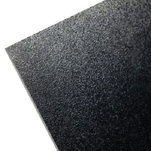 """BLACK KYDEX V PLASTIC SHEET 0.080"""" X 12"""" X 24"""" VACUUM FORMING ^"""