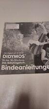 Didymos Bindeanleitung Tragetuch Erika Hoffmann Das Babytragetuch ORIGINAL
