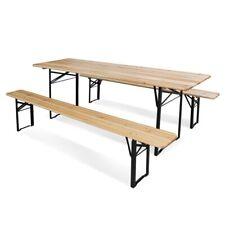 Set birreria con tavolo e 2 panche in legno 220x70