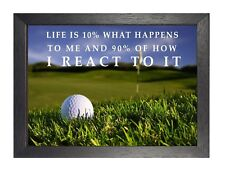 6 Golf inspirierende Leben Zitat Print Motivation Bild Sport ARTWORK poster