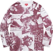 Supreme New York Michelangelo Top L/S Shirt Men's Size XL New Burgundy ArtFW17