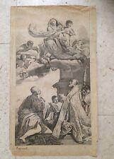 INCISIONE DA TIEPOLO Apparizione Madonna con Bambino (filippo neri??) ante 1800