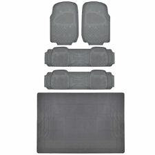 MOTORTREND® Front & Rear Car Floor Mats, Durable HD Rubber, EcoFriendly, Gray