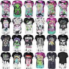 Tie-Dye Alien Letters Graphic 3d Print Unisex Teen's T-Shirt Punk HipHop Tee Top