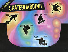Guyana 2015 MNH Extreme Sports Skateboarding 5v M/S Skate Boarding