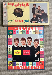 """Vintage 1964, BEATLES, """"FLIP YOUR WIG"""" Board Game by Milton Bradley Comes As Is"""